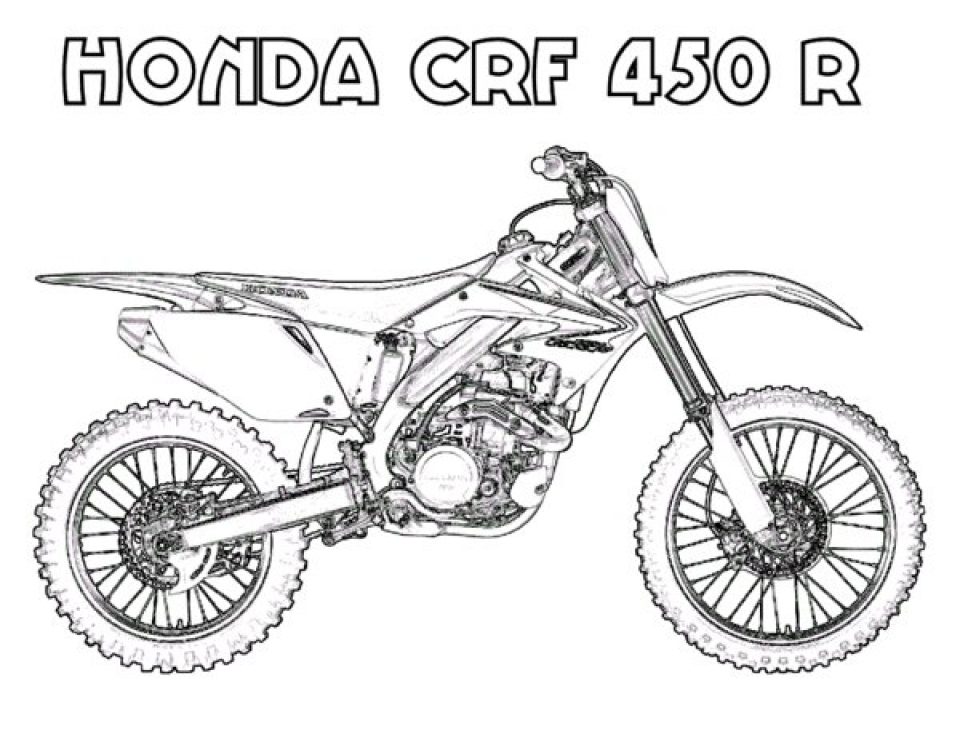 Free Dirt Bike Coloring Pages for Toddlers   p97hr