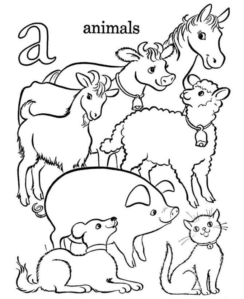 Free Farm Animal Coloring Pages for Kids   yy6l0