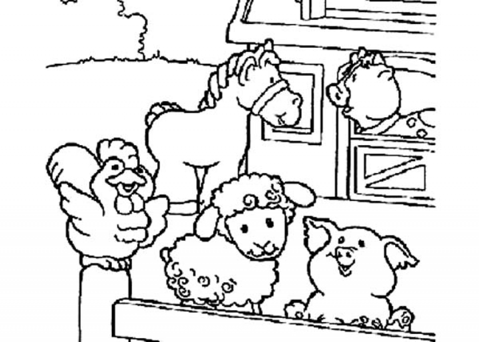 coloring pages of farm animals - 20 free printable farm animal coloring pages