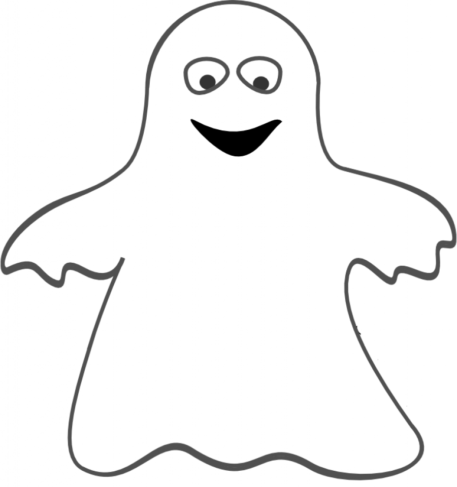 Free Ghost Coloring Pages   25762