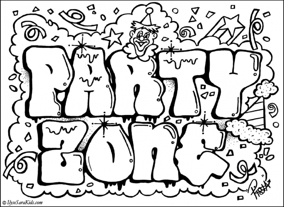 Free Graffiti Coloring Pages   42893