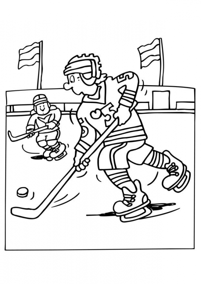 Free Hockey Coloring Pages to Print   92377