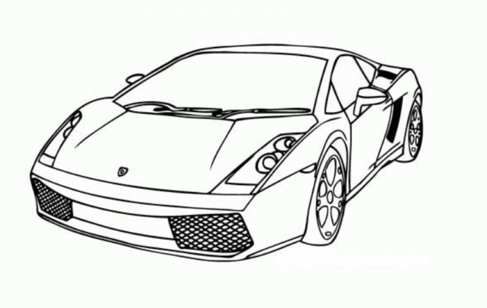 Get This Free Lamborghini Coloring Pages to Print 92377