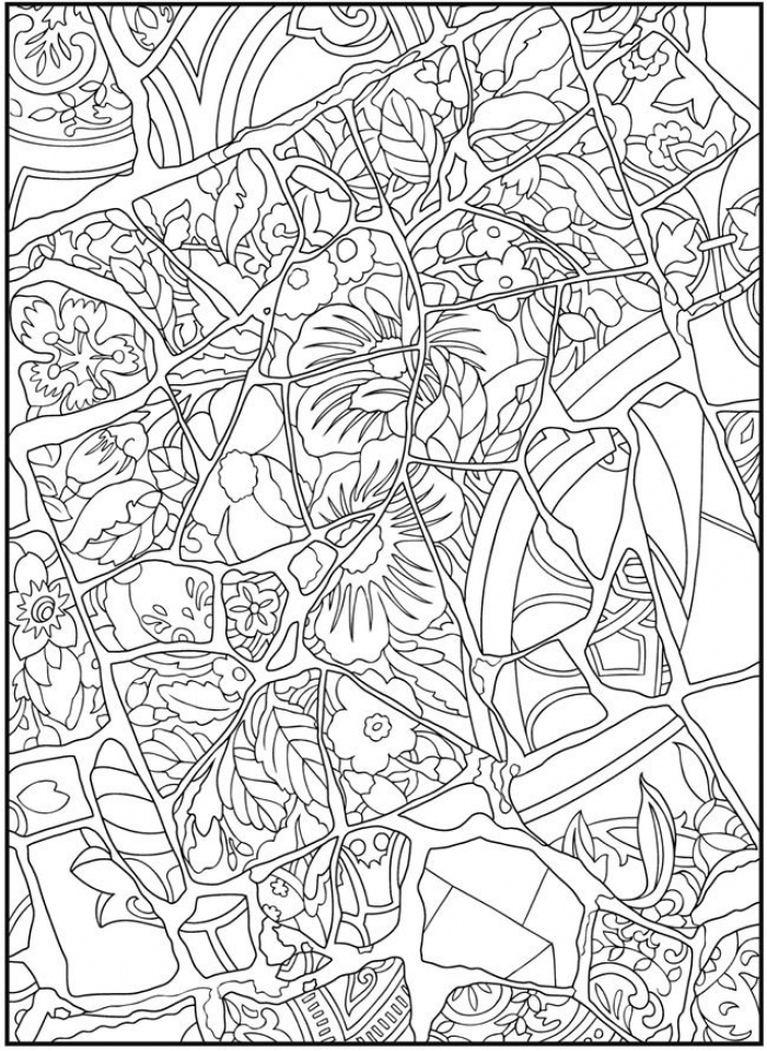 Get this free mosaic coloring pages to print 77417 for Mosaic coloring pages free printable