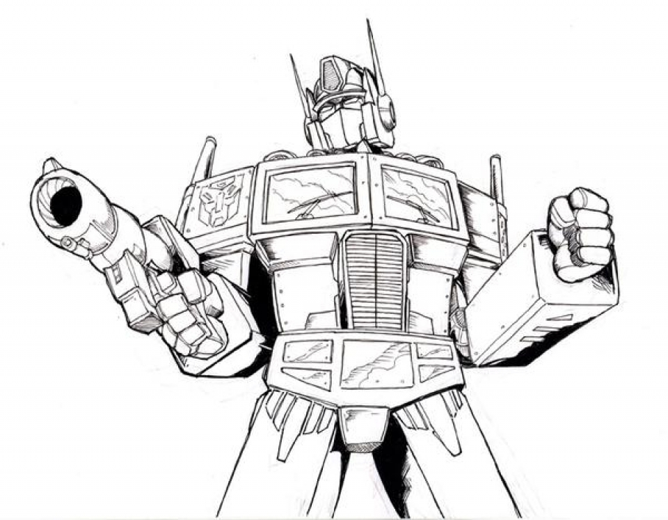 get this free optimus prime coloring page for toddlers p97hr