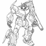 Free Picture of Optimus Prime Coloring Page   prmlr