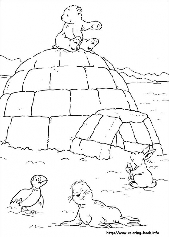 Get This Free Polar Bear Coloring Pages for Toddlers p97hr