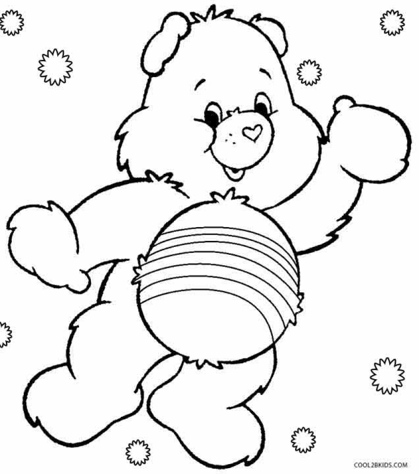 Get This Free Preschool Care Bear Coloring Pages to Print