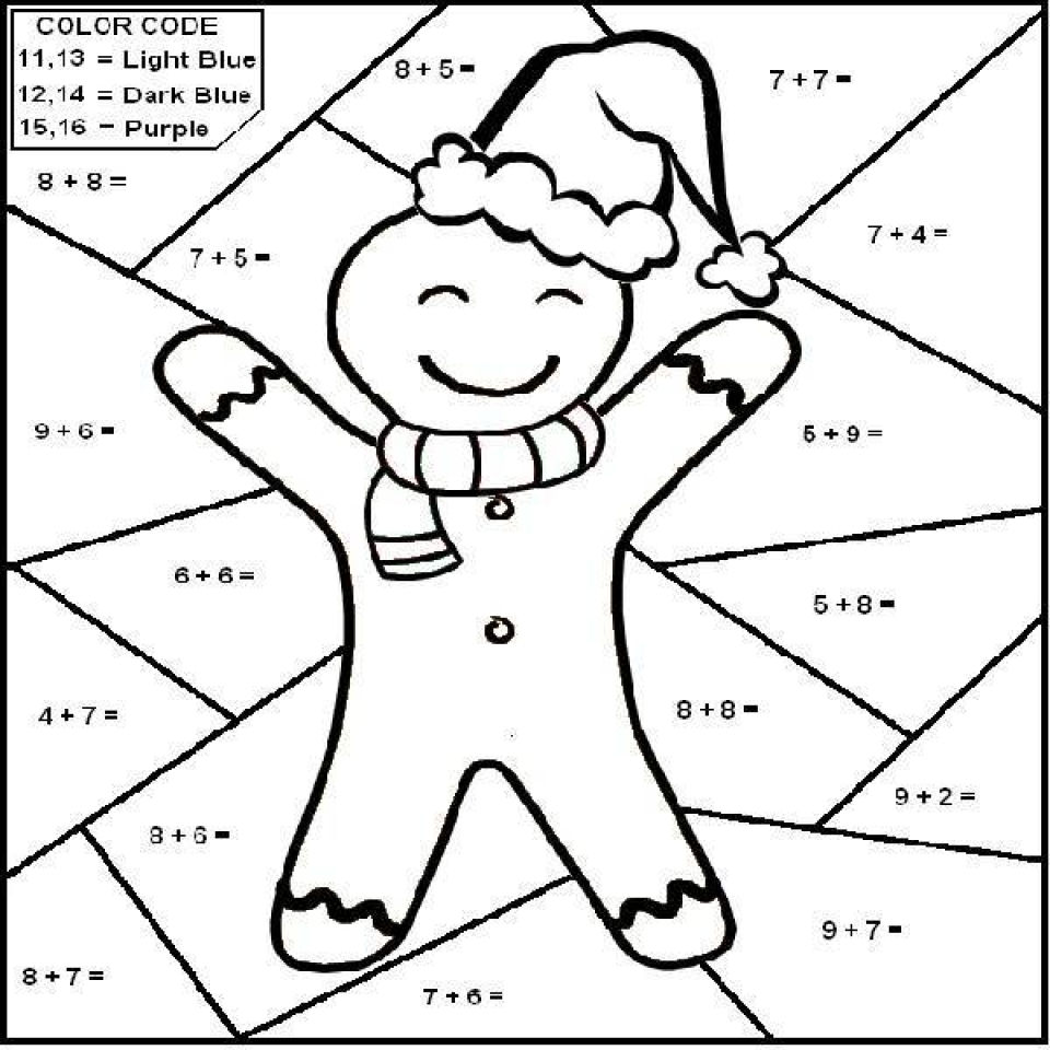 Coloring sheet halloween multiplication - Free Preschool Math Coloring Pages To Print P1ivq