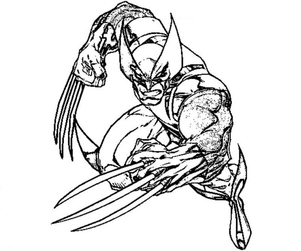 Get This Free Preschool Wolverine Coloring Pages To Print