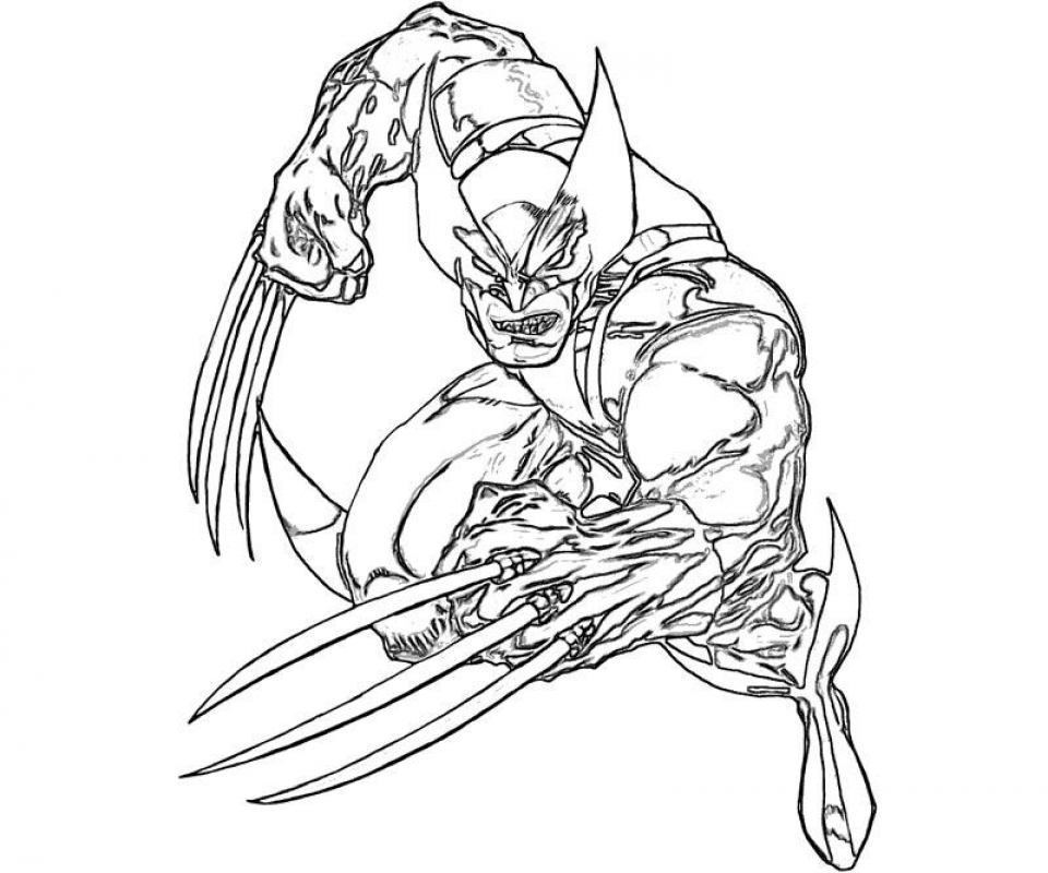 Get This Deadpool Coloring Pages Free Printable 107432: Get This Free Printable Wolverine Coloring Pages For Kids