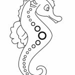 Free Seahorse Coloring Pages   42893