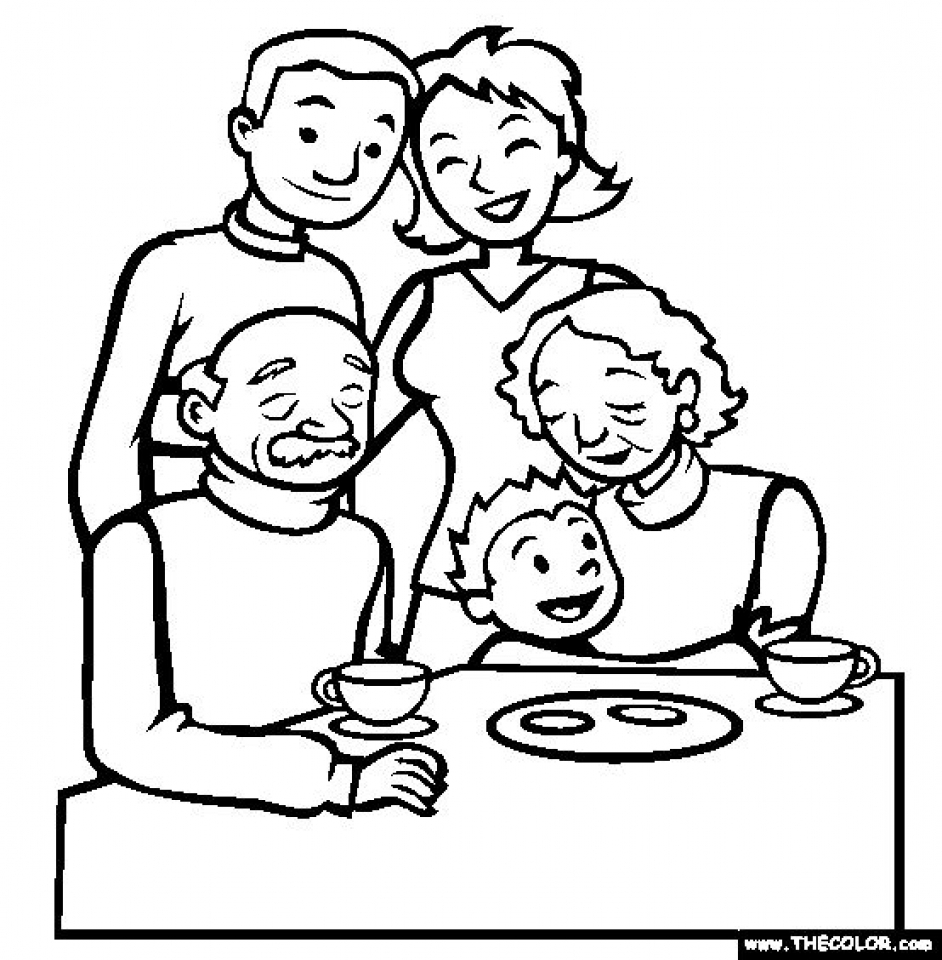 Get This Free Simple Family Coloring