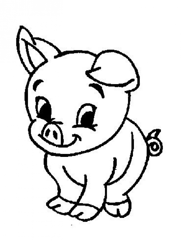 Get This Free Simple Farm Animal Coloring Pages for