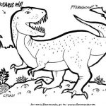 Free T Rex Coloring Pages   46159