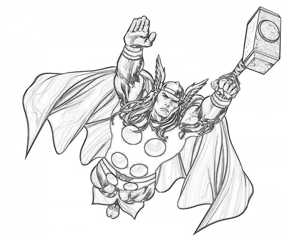 Get This Free Thor Coloring Pages to Print 12490