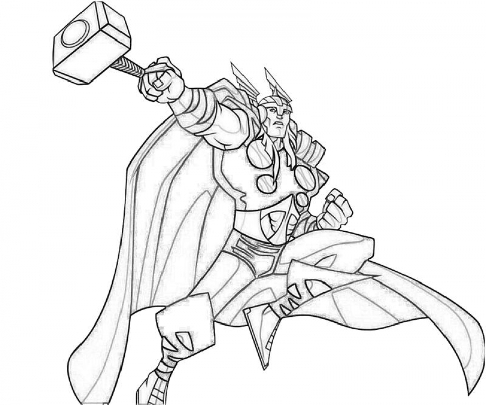 20 Free Printable Thor Coloring Pages