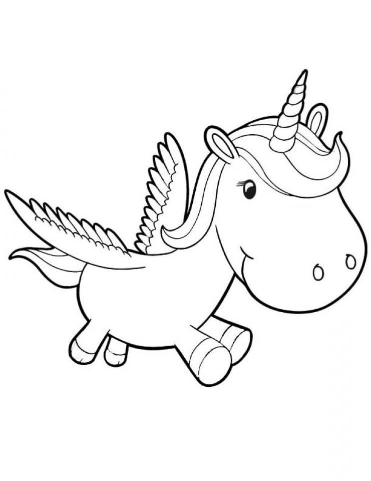 Free Unicorn Coloring Pages   46159
