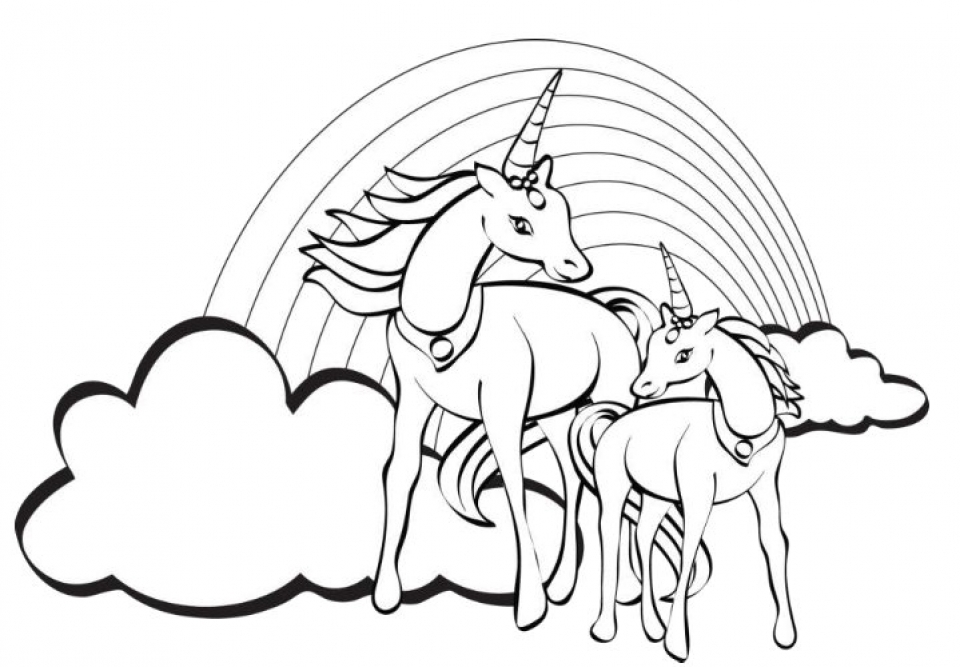 20+ Free Printable Unicorn Coloring Pages - EverFreeColoring.com