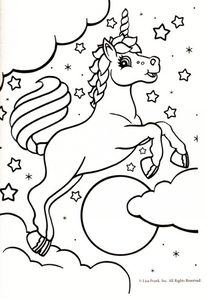Free Unicorn Coloring Pages to Print   92377