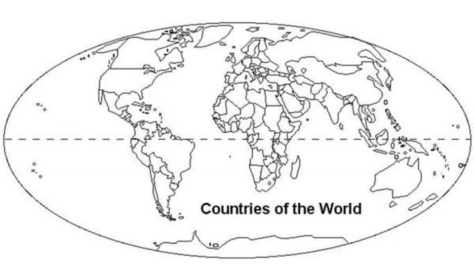 Get This Free World Map Coloring Pages for Toddlers p97hr