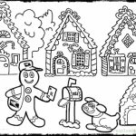 Gingerbread House Coloring Pages for Toddlers   xM7zV
