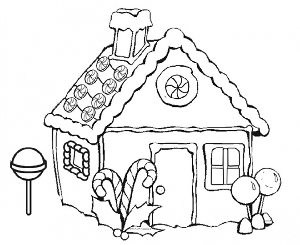 Get This Gingerbread House Coloring Pages Free For Kids