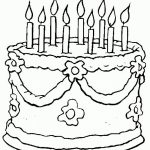 Image of Cake Coloring Pages to Print for Kids   uan64