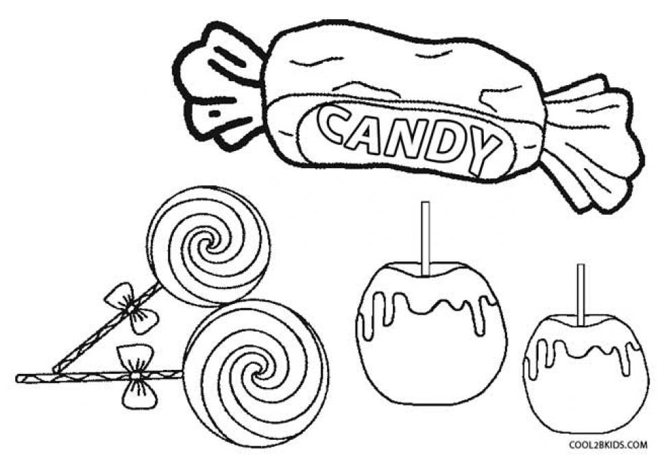 Image of Candy Coloring Pages to Print for Kids   uan64
