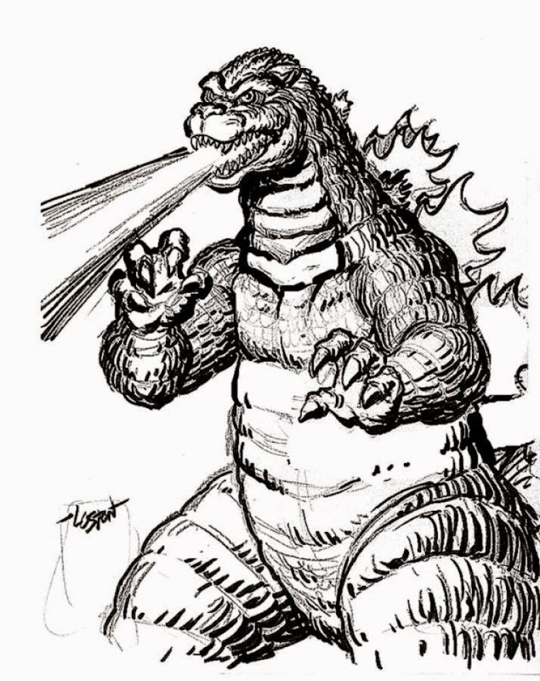 Get This Image of Godzilla Coloring