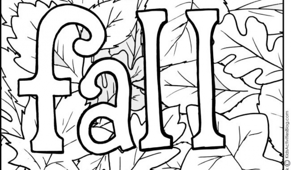 Kids' Printable Fall Coloring Pages Free Online   p2s2s