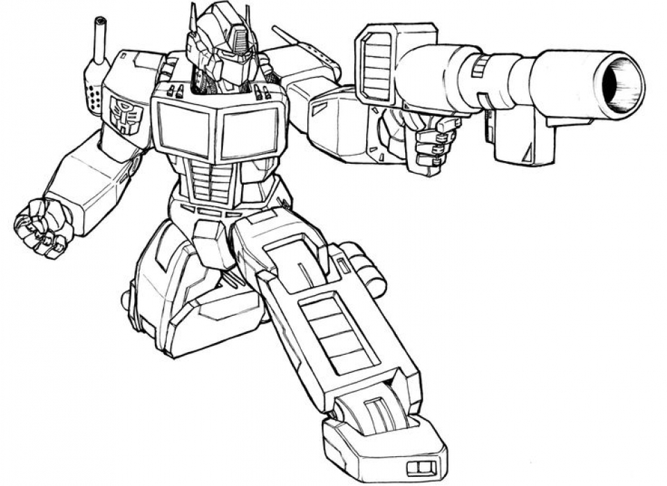 Kids' Printable Optimus Prime Coloring Page Free Online   p2s2s