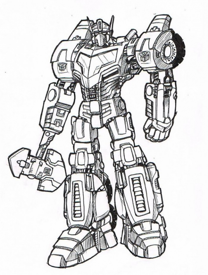 Kids' Printable Optimus Prime Coloring Page   x4lk2