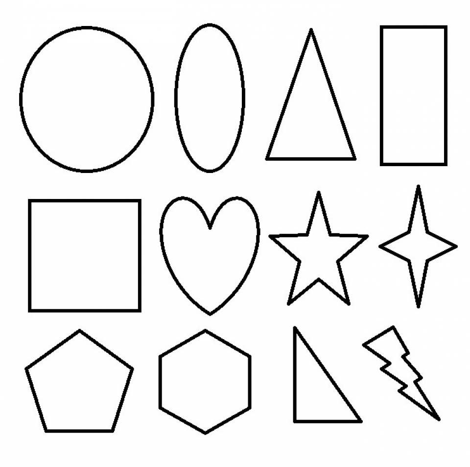 Kids Printable Shapes Coloring Pages X4lk2 on Shapes Coloring Sheets For Toddlers
