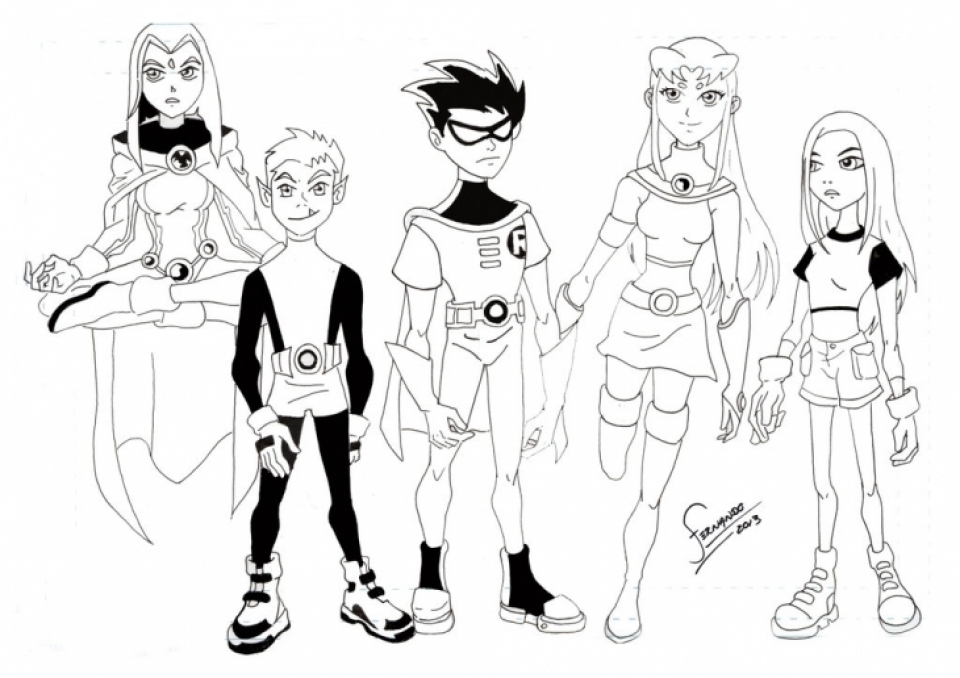 Get This Kids Printable Teen Titans Coloring Pages Free Online