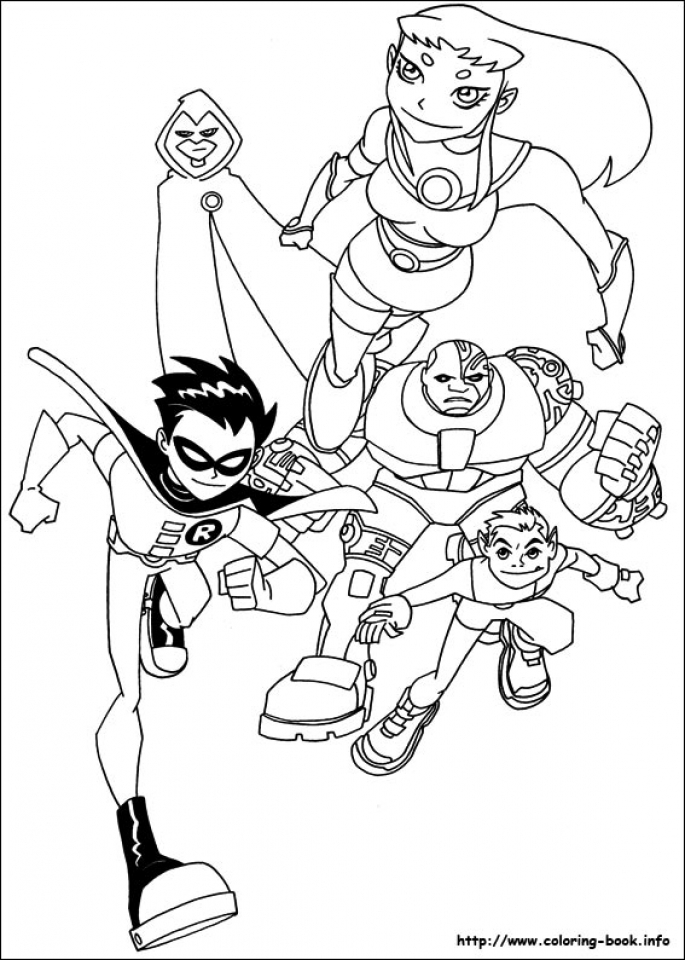 Get This Kids Printable Teen Titans Coloring Pages uNrZj