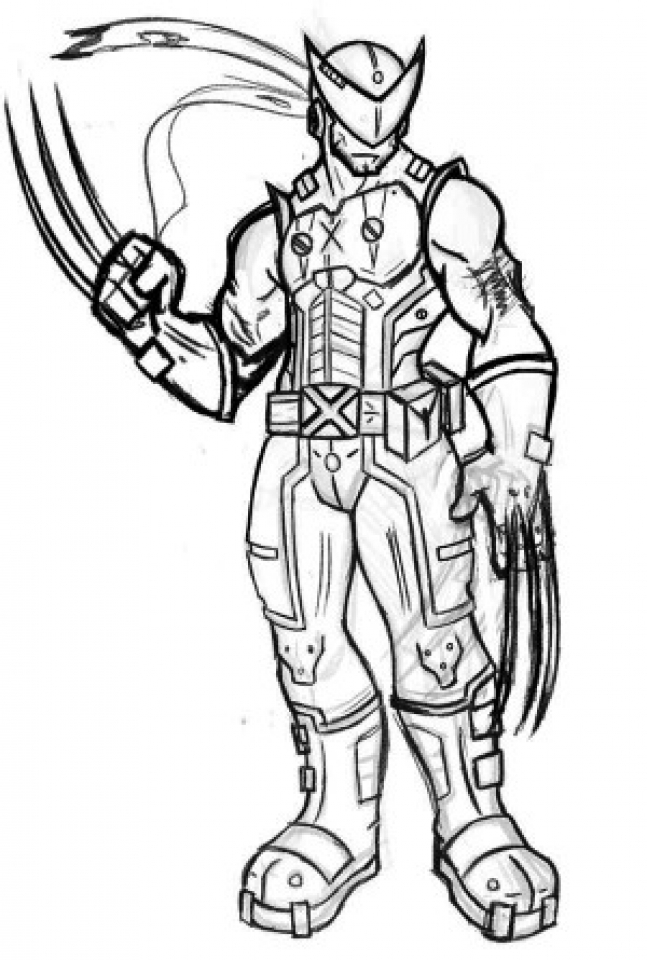 Printable Coloring Pages Wolverine Coloring Pages
