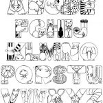 Letter Coloring Pages Free for Kids   6Ir1n