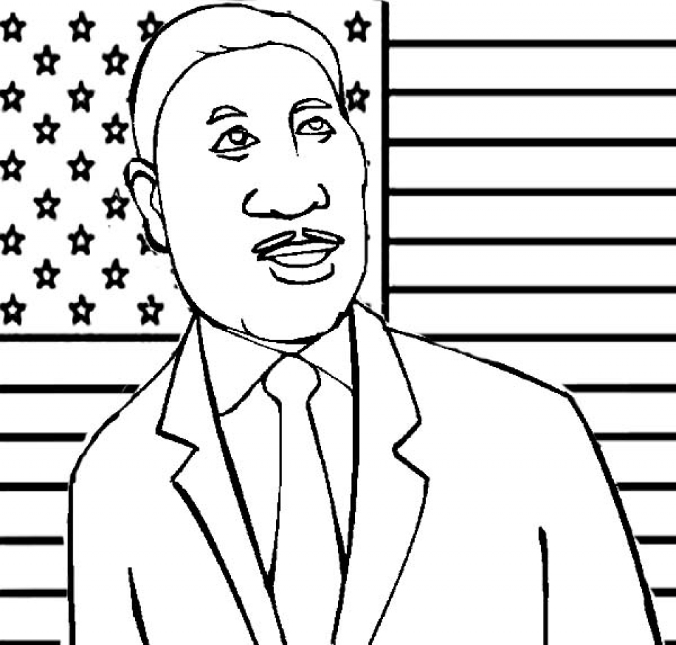 Martin Luther King Jr Coloring Pages to Print Online   lj8rr