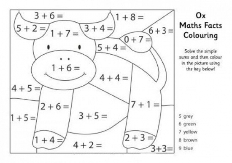 20 free printable math coloring pages. Black Bedroom Furniture Sets. Home Design Ideas