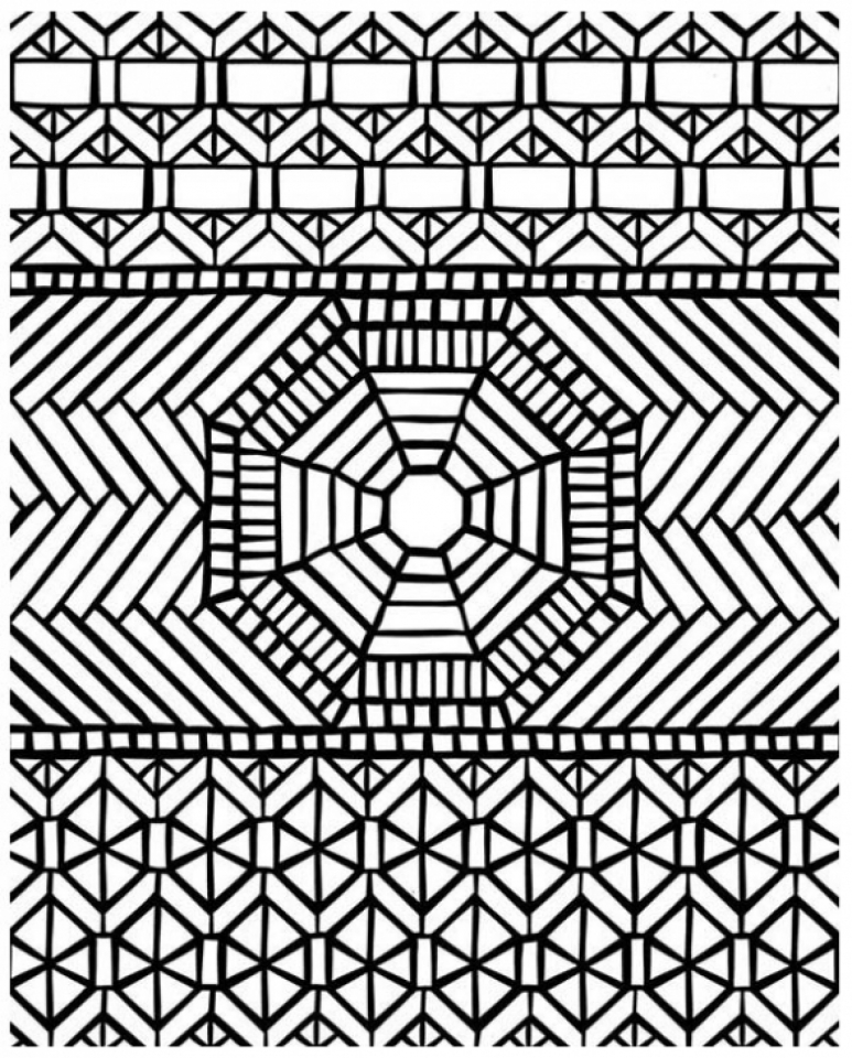 Get this mosaic coloring pages free printable 16479 for Coloring pages patterns