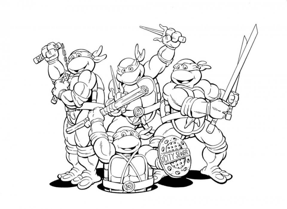 Ninja Turtle Coloring Page Free Printable   22398