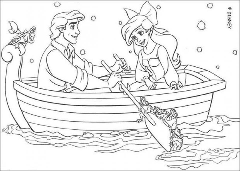 Online Ariel Coloring Pages for Kids   sz5em
