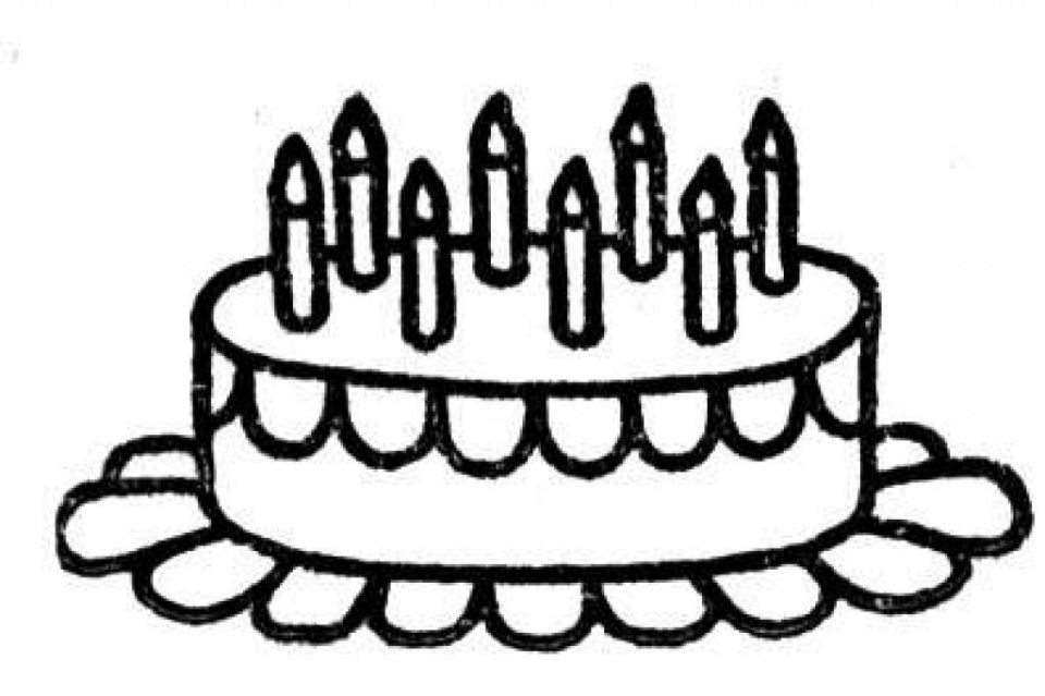 Get This Online Birthday Cake Coloring Pages 17433