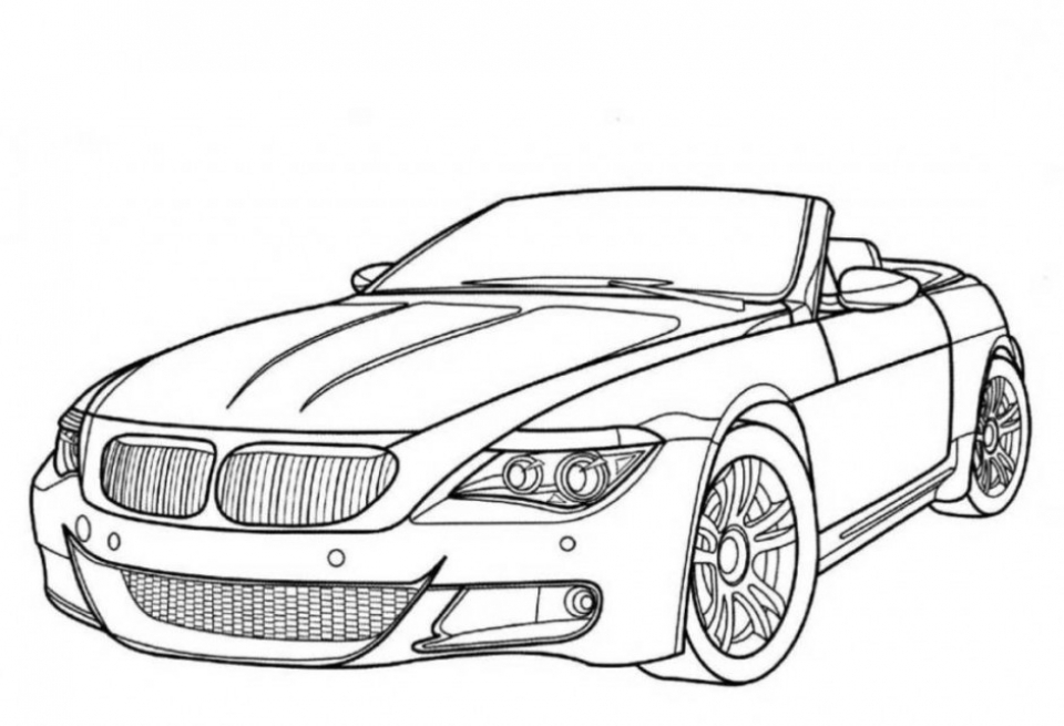 Online Car Coloring Page   37425