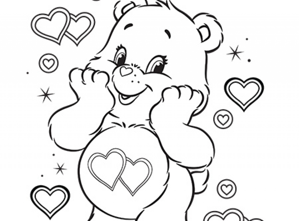 care bear valentines coloring pages-#14