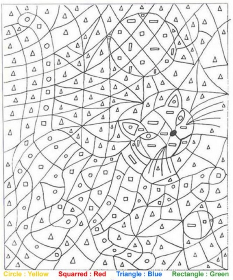 Halloween Coloring Pages Color By Number