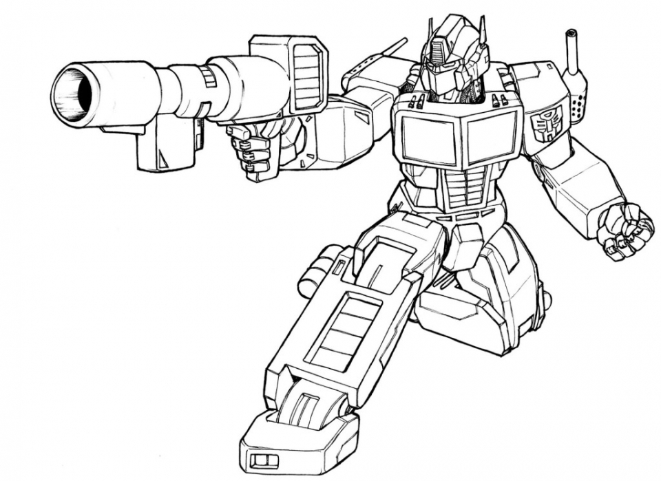 optimus prime coloring page