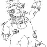 Online Printable Scarecrow Coloring Pages   4z5CB