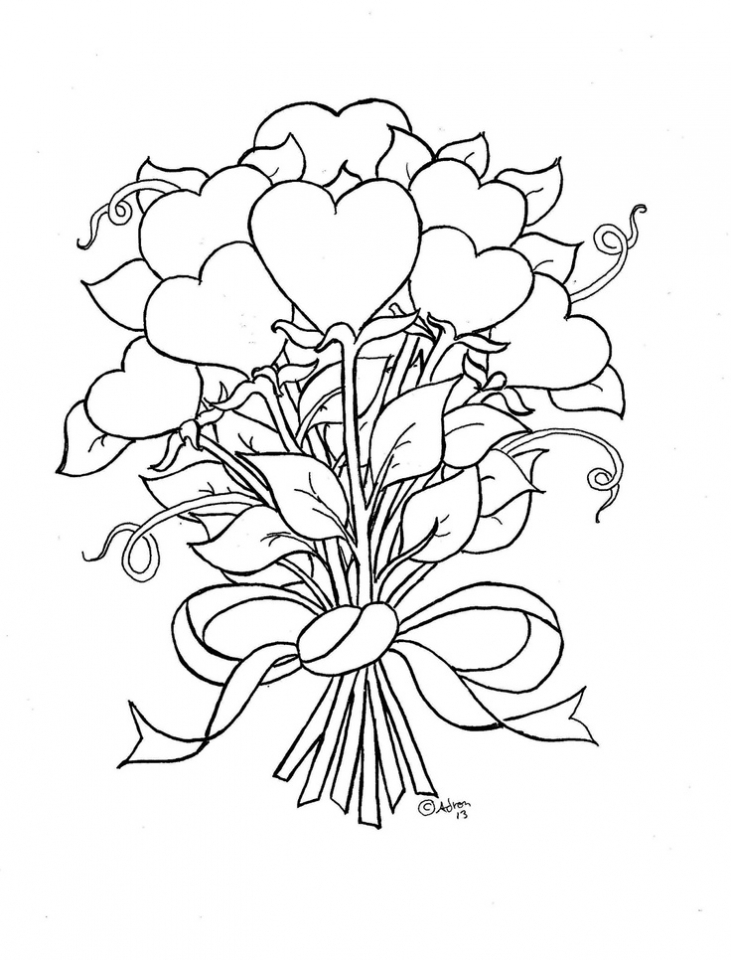 Get This Online Roses Coloring Pages for Adults 60096